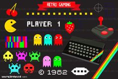 Retro Gaming by MelsBrushes on Creative Market