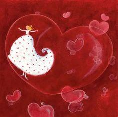 By Marie Cardouat Quirky Art, Whimsical Art, Fun Illustration, Illustrations, Marie Cardouat, Decoupage, Dream Art, Heart Art, Cute Art