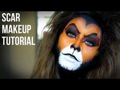 """Learn how to create an Amazing Realistic Lion Makeup look by watching this video tutorial. Inspired by the """"Lion King"""" (Makeup Scar Lion King) movie and wild. Scar Halloween Costume, Halloween Makeup, Halloween 2019, Halloween Stuff, Halloween Ideas, Scar Lion King, Lion King Jr, Lion Makeup, Animal Makeup"""