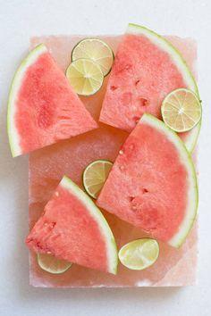Watermelon on salt plate | designlovefest