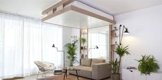 Atelier Décadrages Built A Sliding Bed That Can Be Stored In The Ceiling | iGNANT.de