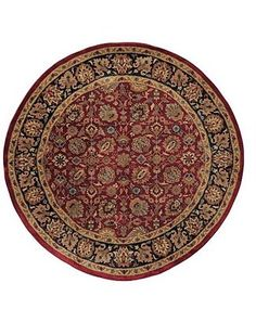 "ShopStyle: Couristan ""Shiraz"" A/O Floral Persian Red Area Rug, 5' 10"" Round"