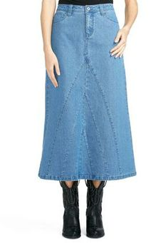 Cato Fashions V Panel Denim Skirt CatoFashions