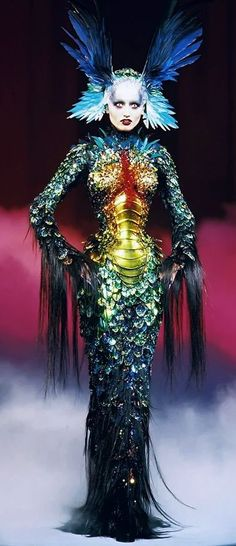 Thierry Mugler...(runway fashion...what do some of them really think about females, LOL)