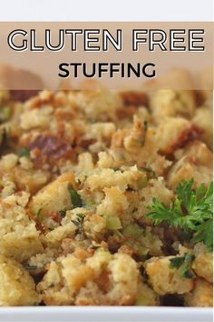 Stuffing is a staple that nearly everyone loves. Fluffy and flavorful, this gluten-free and grain-free recipe is easy to make and a perfect way to use up any leftover homemade Otto's Natural - Cassava flour bread you may have. Enjoy! Gluten Free Stuffing, Stuffing Recipes, Cassava Flour Recipes, Fodmap, Recipe Using, Grain Free, Gluten Free Recipes, Free Food, Bread