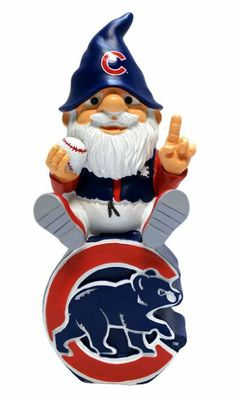 Amazon.com: MLB Chicago Cubs Gnome Sitting On Logo: Sports & Outdoors
