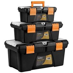 VonHaus Multi-Purpose Plastic Tool Box with Organizer Trays and Storage Compartments - Sizes and Tool Boxes Tool Box Diy, Tool Box Storage, Tool Organization, Diy Storage, Diy Tools, Camper Awnings, Popup Camper, Woodworking Store, Popular Woodworking