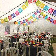 I like the banners Mexican Fiesta Decorations, Mexican Fiesta Party, Fiesta Theme Party, Party Themes, Party Ideas, Mexican Themed Weddings, 25th Birthday Parties, Mexican Babies, Mexican Birthday