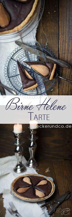 Tarte ala Birne Helene | Birnen in cremiger Schokoladentarte