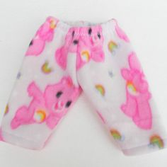 "Bitty Baby Clothes 15"" Doll Clothes Pink White Care Bear Polar Fleece Pj Pants Pajamas Winter on Etsy, $4.95"