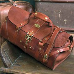 If you had boarded a train during the time period of the 1870′s to the 1940′s, your travel bag would have been called a grip. A grip was not a bag you checked to the baggage car or entrusted to the care of someone else. It was a personal bag kept with you at all times. Likewise, the Colonel's No. 1 Grip is designed as a carry-on-bag and not a bag to be checked. http://www.colonellittleton.com/shop/leather-luggage-bag-grip-no1/
