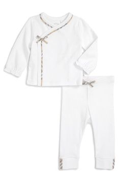 Burberry 'Nylah' Long Sleeve Top & Pants Set (Baby Boys) available at #Nordstrom