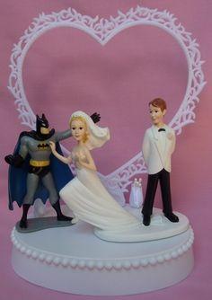 superhero wedding cake topper!! who wouldnt pick batman!