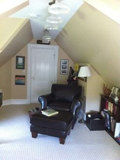 Attic Home Office Design Ideas, Pictures, Remodel, and Decor