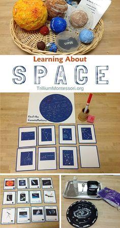 Learning About Space - Trillium Montessori - The Best Space Activities Ideas For Kids Montessori Science, Montessori Classroom, Preschool Science, Montessori Elementary, Primary Classroom, Science Ideas, Space Activities For Kids, Space Preschool, Science Activities