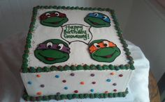Teenage Mutant Ninja Turtle Cake - SweetPea Cake & Cupcake Boutique