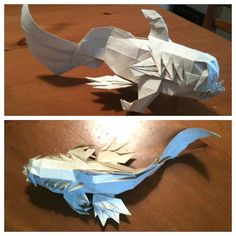 Yu Lung (Fish Dragon) by Joseph Wu Origami, via Flickr