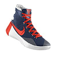 I designed the dark blue Tennessee-Martin Skyhawks Nike men's basketball shoe with orange and white trim.