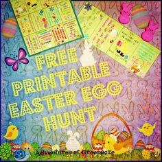 Adventures at Greenacre: Free Easter egg hunt clues printable