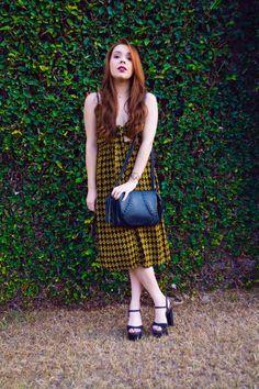 Look do Dia: Vestido Midi Estampado com amarração + Sandália #ootd #dress #vestido #lookdodia #boho #print #girl #fashion
