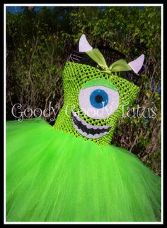 LITTLE GREEN MONSTER Monsters Inc Inspired Tutu by goodygoodytutus, $75.00
