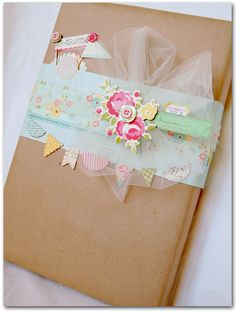 Older And Wisor: Kraft Krush Day 7: Fifty Ways To Wrap With Tags & Embellishments