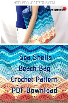 Beach Bag Crochet Pattern - Sea Shells Crochet this gorgeous sea shells beach bag for your summer holidays! The PDF crochet pattern downlo Crochet Beach Bags, Bag Crochet, Crochet Purses, Crochet Shell Stitch, Shell Beach, Mochila Crochet, Simple Bags, Crochet Videos, Knitted Bags