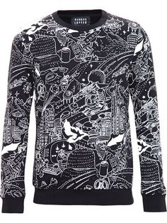 Shop Markus Lupfer Cartoon Print Sweatshirt in Browns from the world's best independent boutiques at farfetch.com. Shop 300 boutiques at one address.