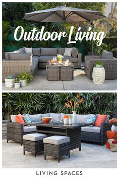 Outdoor lounge furniture - transform your outdoor space into an oasis with retreat-worthy sofas, sectionals, conversation sets & more. Patio Lounge Furniture, Outdoor Lounge Furniture, Garden Furniture, Furniture Ideas, Furniture Online, Furniture Inspiration, Rustic Furniture, Antique Furniture, Modern Furniture