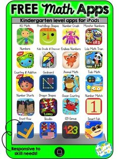 What's better than free stuff for your classroom? and when it comes to apps for your kiddos iPads, new apps can get pricey. Great for kids learning. Learning Apps, Preschool Learning, Kindergarten Math, Math Activities, Math Resources, Teaching Math, Listening Activities, Free Math Apps, Educational Websites For Kids