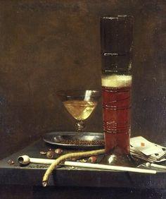 Jan Jansz. van de Velde (Dutch, 1620-1662)    Still Life with a Pipe-Lighter  1653