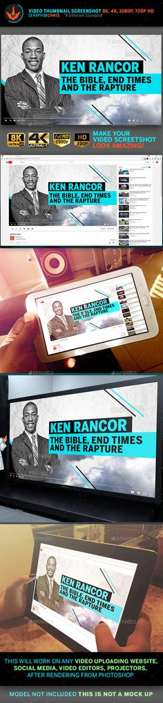 Cover Template, Banner Template, Youtube Video Thumbnail, Learn Photoshop, Adobe Photoshop, Thumbnail Design, Church Graphic Design, Youtube Design, One Page Website