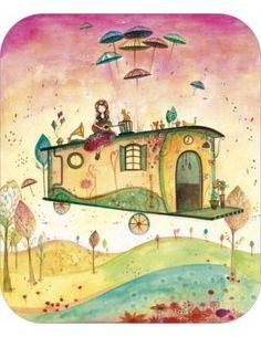 """Carte d'Art """"Concert sur la Roulotte"""""""