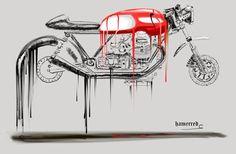 RocketGarage Cafe Racer: Hammered Art