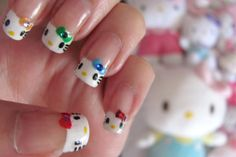 Hello Kitty French Manicure