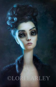 This gorgeous, semigloss limited edition giclee print of Loris oil painting titled, Anhedonia was the star piece and main attraction at Lori's most