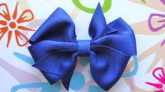 Dark Blue Ribbon Hair Bow or Hair Clip by Bloomzies on Etsy, $3.00