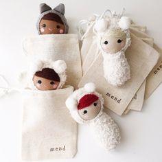 Slideshow image 3 Sock Dolls, Felt Dolls, Crochet Dolls, Doll Toys, Rag Dolls, Tiny Dolls, Cute Dolls, Doll Clothes Patterns, Doll Patterns