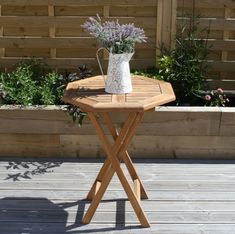 60cm Teak Octagonal Folding Table - Sustainable Furniture