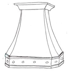 It all begins with a sketch - Ironhaus wrought iron range hood.