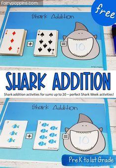 Shark Addition Activities | Fairy Poppins