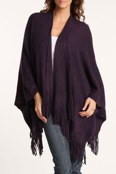 Poncho In Purple.