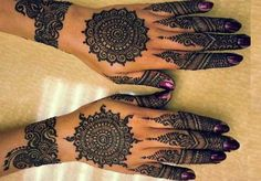 Wonderful Round Henna Designs for Women