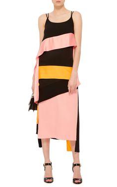 Inverse Satin Ribbon Streamer Dress by MSGM   Moda Operandi