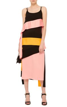 Inverse Satin Ribbon Streamer Dress by MSGM | Moda Operandi