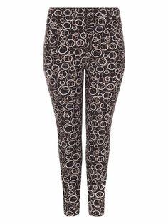 Bnwt Ladies Studio 8 London Black Purple Trousers Size 18 Leg 28 Inches New Clothing, Shoes & Accessories Pants