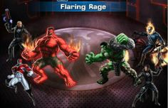 Red Hulk fighting against Green Hulk in PVP