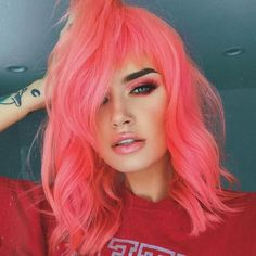 14 Pastel Hair Colors That Will Make You Consider Dying Your Hair - 14 Pastel Hair Colors That Will Make You Consider Dying Your Hair PINK HAIR. Love this bold and bright look. Pink Hair Dye, Dyed Hair Pastel, Neon Hair, Hair Color Purple, Hair Color For Black Hair, Short Pastel Hair, Pastel Hair Colors, Bright Pink Hair, Dye Hair