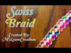 NEW Swiss Braid Rainbow Loom Bracelet Tutorial   How To - YouTube