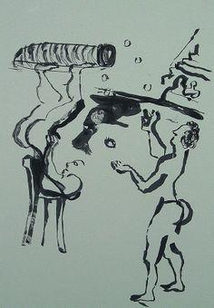La Edad de la Muerte (IV). Litografía, 23 x 15,5 cm. mancha, 31,5 x 23 cm. soporte. 60 €.